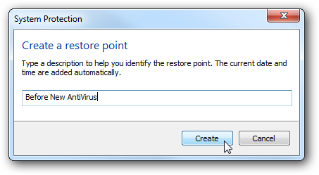 Restore Point in Windows 7