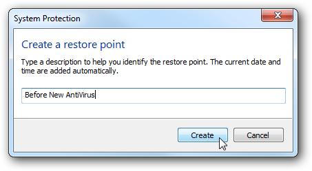Restore Point in Windows 7