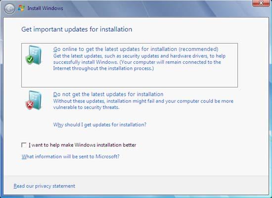 upgrade Windows Vista to Windows 7