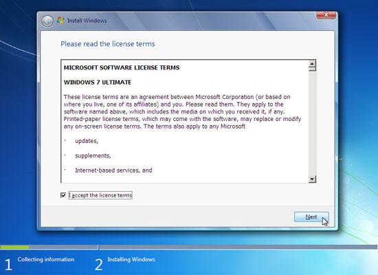 Upgrade Vista to Windows 7