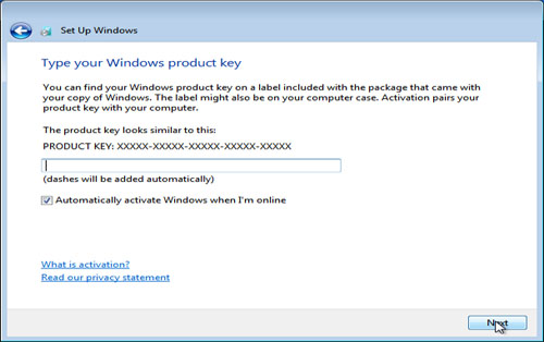 Windows 7 Activation