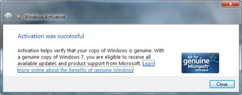 Windows 7 Activation
