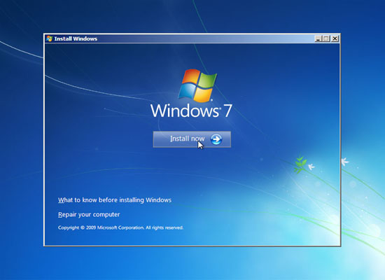 upgrade Windows Vista to Windows 7