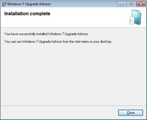 Windows 7 Upgrade Advisor Install
