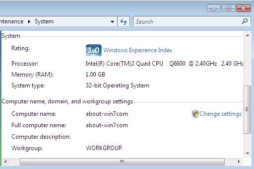 Windows Vista System